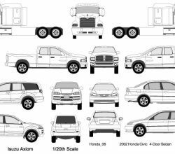 Cars, Trucks, Van Vectors