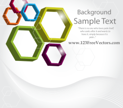 Abstract 3d Hexagon Vector Background