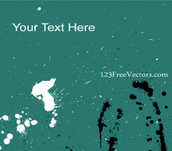 Vector Ink Splatter Background Banner Design
