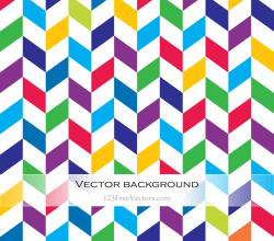 Colorful Zigzag Vector Background