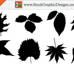 Free Autumn Leaf Silhouettes Vector