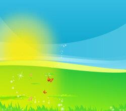 Landscape with Shiny Sun