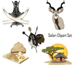 Vector Safari Clip Art