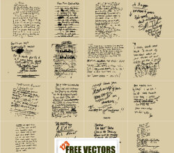Dirty Note Book Vector Pack