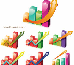 Charts Clipart with Arrow Vector Free