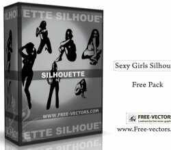 Girls Silhouettes Free Vector Pack