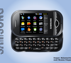 Samsung B3410 Mobile Phone Illustration