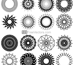 Geometric Circle Design Vector Art