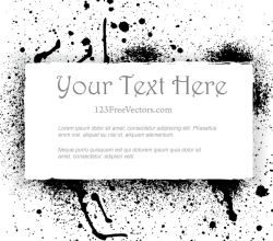 Vector Grunge Paint Splatter Frame Design