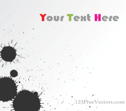Vector Ink Blot Background Banner Design