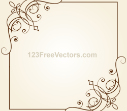Vintage Floral Ornament Frame Vector Graphics