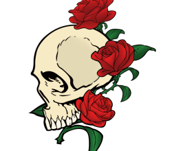 Free Vector Skull with Roses