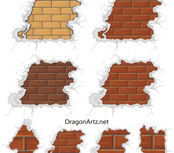 Free Vector Brick Plaster Wall