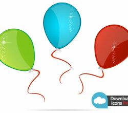 Vector Icon Colorful Balloons