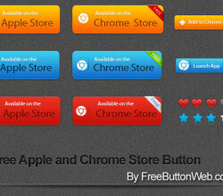 Free Apple and Chrome Store Vector Button