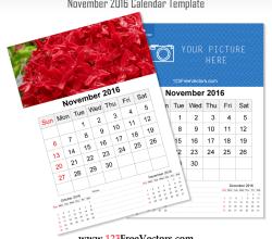 Wall Calendar November 2016