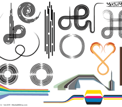 Line Art Design Elements Vector Set-9