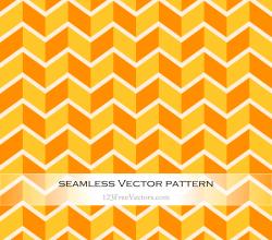 Orange and Yellow Zig Zag Seamless Pattern