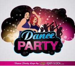 Free Dance Party Vector Logo