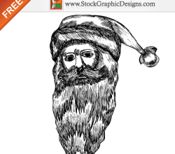 Christmas Santa Claus Free Vector Illustration