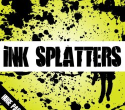 Ink Splatters Vector Illustrator Pack