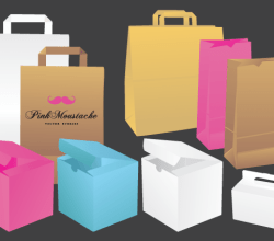 Bags & Boxes Vector Image Free