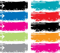 Colorful Grunge Vector Banners