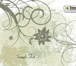 Free Vector Grunge Floral Background