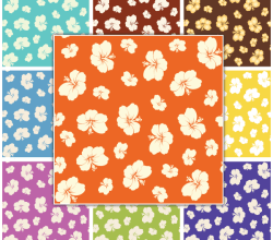 Free Vector Summer Flower Seamless Pattern