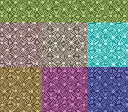 Crazy Circles Free Seamless Premium Vector Pattern