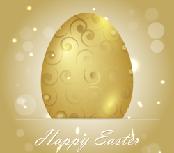 Golden Easter Egg Background Vector