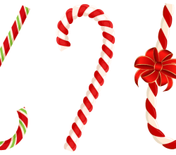 Vector Christmas Candy Cane with Red Bow