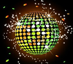 Vector Colorful Disco Ball Wallpaper