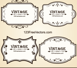 Vintage Ornate Frames Vector
