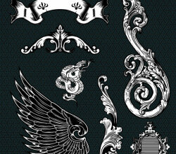 Ornate, Floral Vector Set