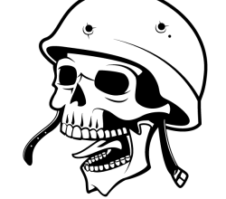 Vector Soldier Skull with Helmet