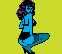 Zombie Pin Up Girl Free Vector Image