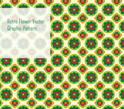 Vector Retro Flower Pattern