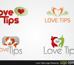 Love Tips Logo Vector Pack Free