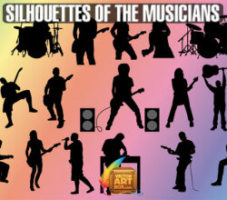 Musicians Silhouettes Vector Art