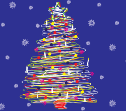 Vector Scribble Christmas Tree