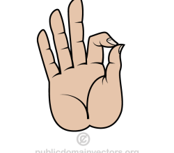 Buddha Hand Symbol Vector