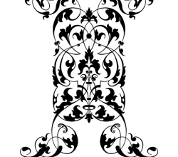 Vertical Ornament Vector
