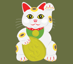 Free Lucky Cat Vector