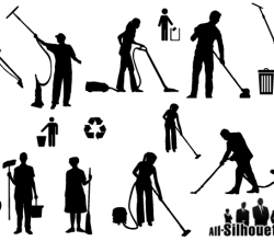 Cleaner Silhouettes Vector Free Clip Art