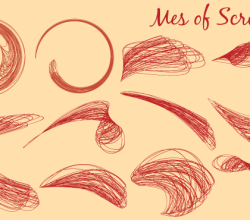 Vector Swoosh Scribbles  Graphics