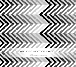 Black and White Chevron Pattern Vector