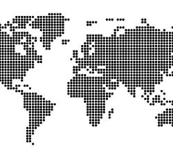Dotted World Map Vector Free