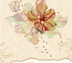 Vector Vintage Floral Background Free Download
