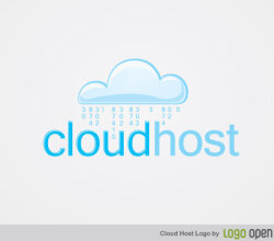 Cloud Host Logo Vector